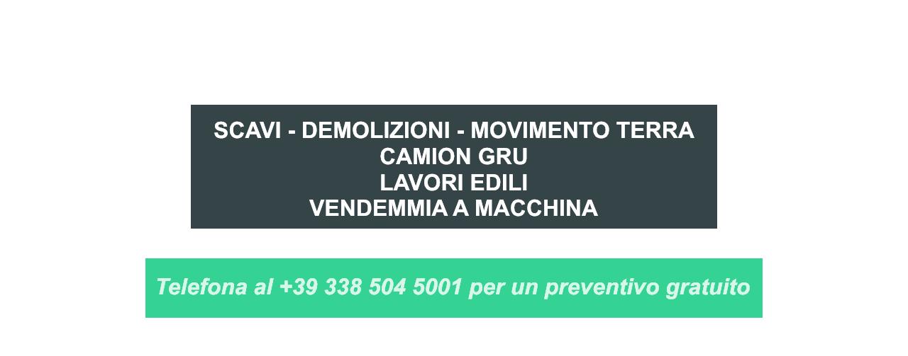 Cormons - Gorizia - Lavori edili - Scavi – Demolizioni – Movimento terra Camion gru Lavori Edili Vendemmia a macchina